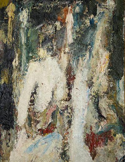 Modèle nu posant huile sur toile signée et datée 1955 130 x 82.